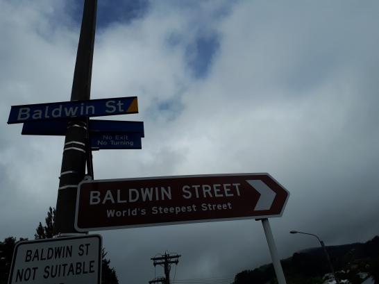 Steep street in Dunedin